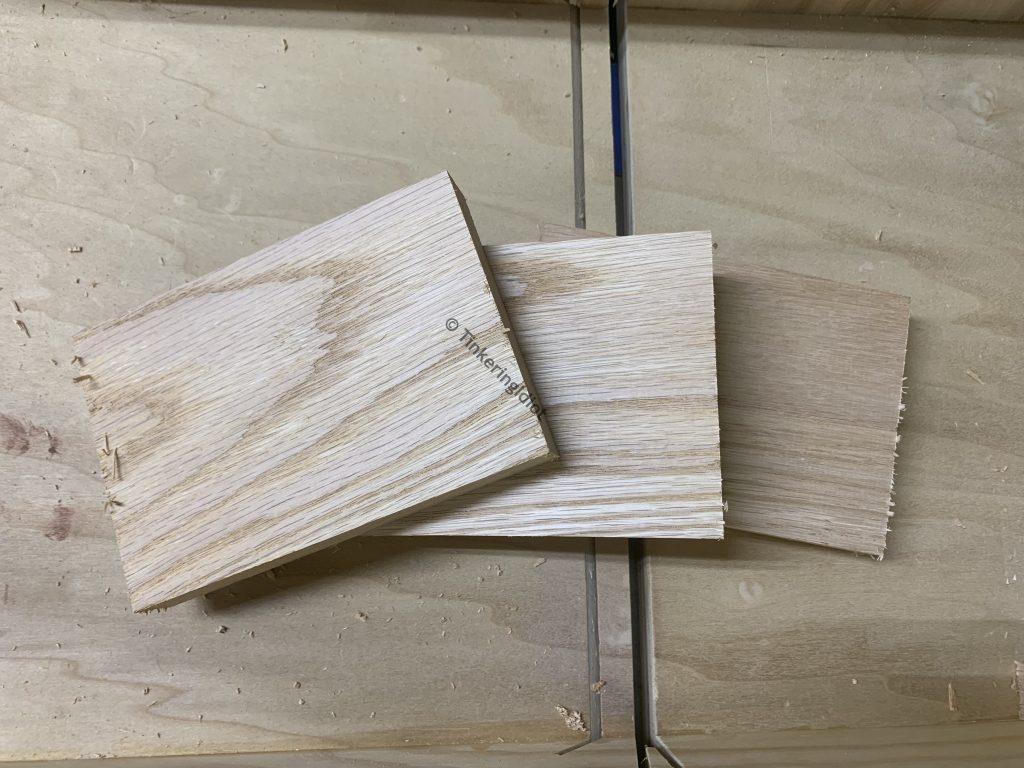 cut oak for the mallet head
