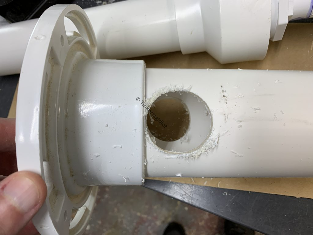 holes cut for the check valves