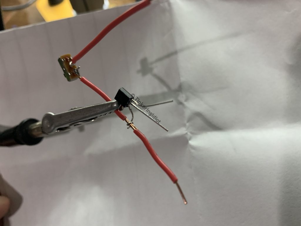 adding the transistor