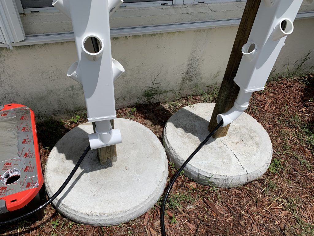 grow tower feed lines installation