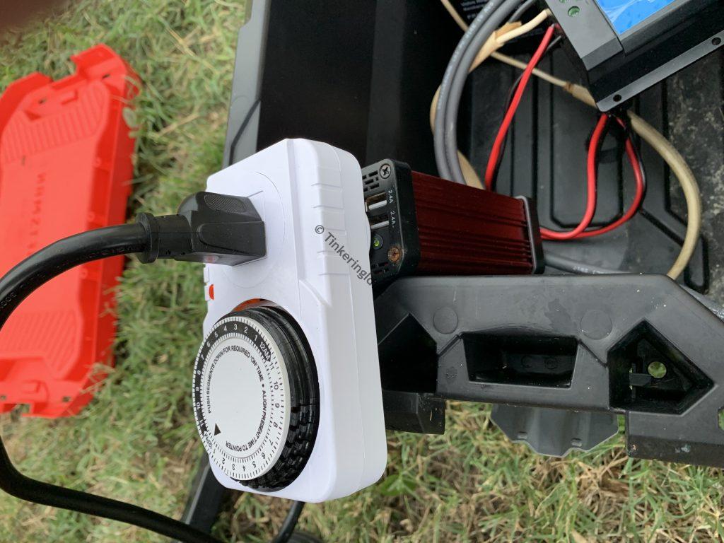 solar generator inverter timer