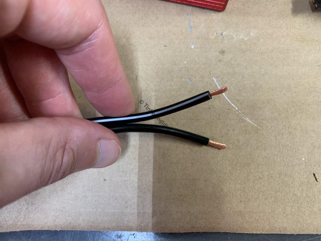 solar generator inverter ends stripped