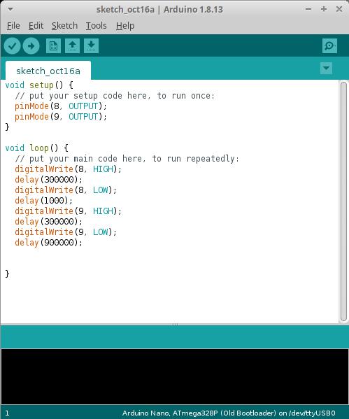 12v timer arduino code