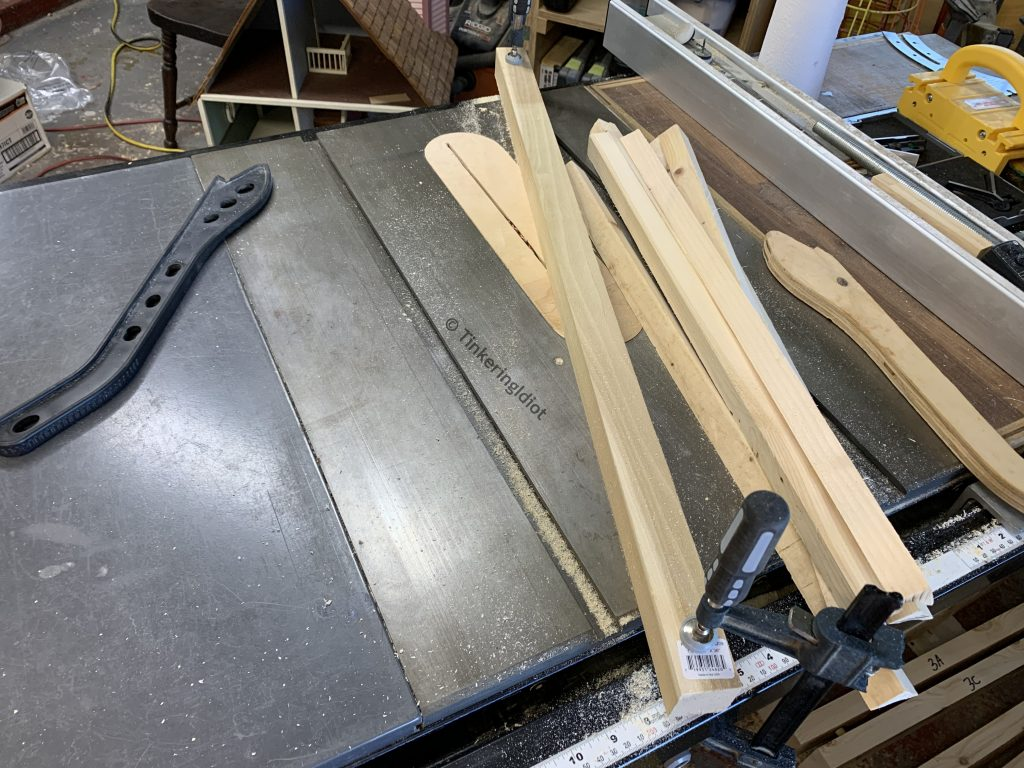 setting up to make a cove cut